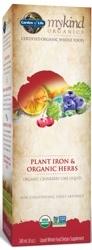 Garden of Life MyKind Organics Plant Iron and Organic Herbs Cranberry Lime 8 oz Liquid