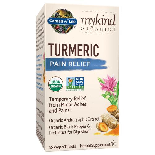 Garden of Life MyKind Organics Turmeric Pain Relief  30 Tablets
