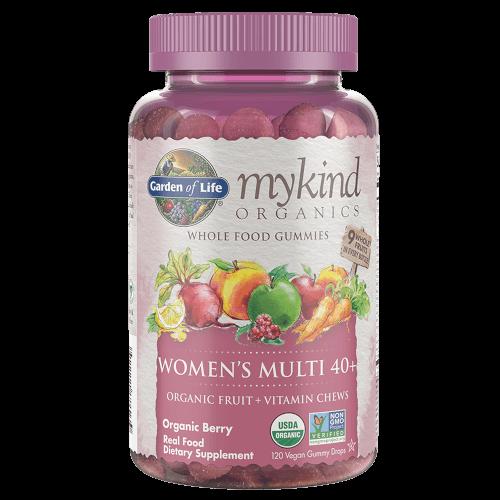 Garden of Life MyKind Organics Womens 40 Plus Gummy Multi  Berry 120 Fruit Chews