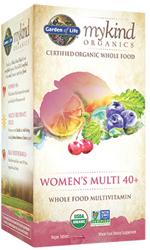 Garden of Life MyKind Organics Womens 40 Plus Multi  120 Tablets