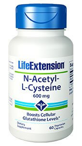 Life Extension N-acetyl-L-cysteine 600 mg 60 Capsules