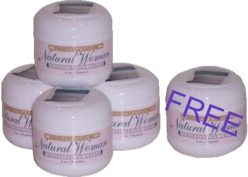 Products of Nature Natural Woman Progesterone Cream  2 oz - buy 4 get one FREE