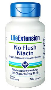 Life Extension Niacin No Flush  800 mg 100 Capsules