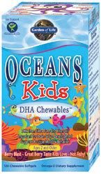 Garden of Life Oceans 3 Kids Chewable  120 Softgels