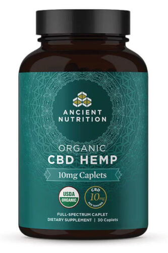 Ancient Nutrition Organic CBD Hemp 10mg 30 Caplets