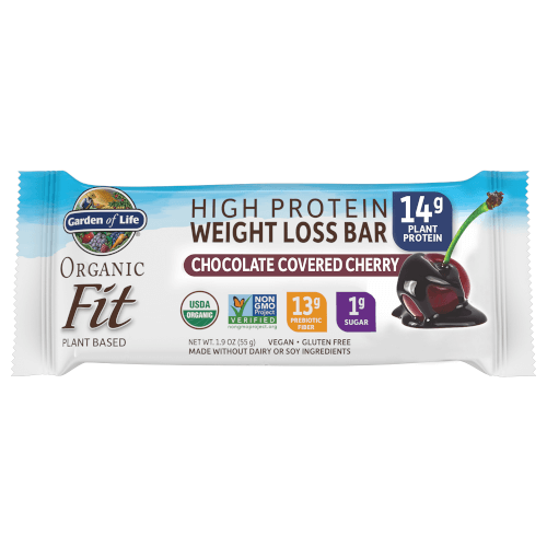 Garden of Life Organic Fit Protein Bars Chocolate Covered Cherry 1 Box of 12 Bars
