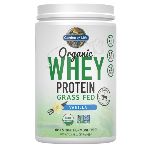 Garden of Life Organic Whey Protein Vanilla 379 gram Grass Fed