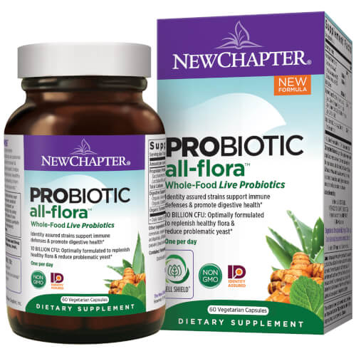 New Chapter Probiotic All Flora  60 Capsules