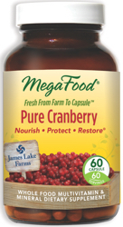 MegaFood Pure Cranberry  60 Capsules