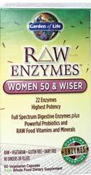 Garden of Life RAW Enzymes Women 50 and Wiser  90 Capsules