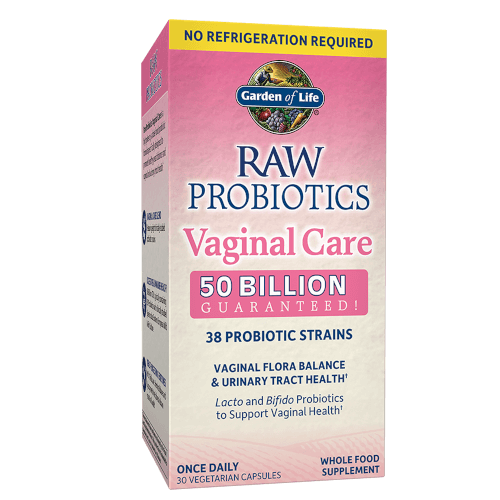 RAW Probiotics Vaginal Care Page
