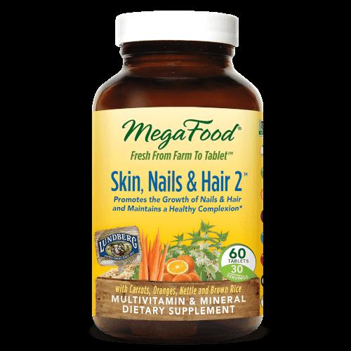 MegaFood Skin Nails Hair 2  60 Tablets 2 Daily