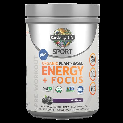 Garden of Life SPORT Organic Plant-Based Energy Focus  Blackberry Lemonade 432 gram  powder