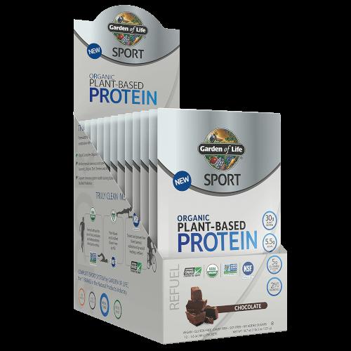 Garden of Life SPORT Organic Plant-Based Protein Chocolate 12 Single Serv Packs