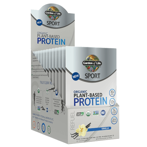 Garden of Life SPORT Organic Plant-Based Protein Vanilla 12 Single Serv Packs