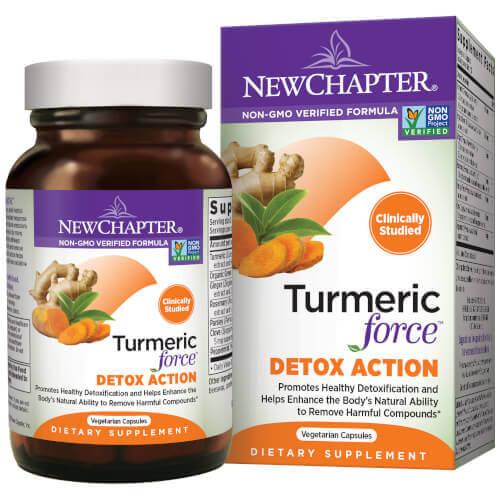 New Chapter Turmeric Force Detox   60 Softgels
