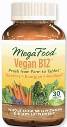 MegaFood Vegan B-12  30 Tablets