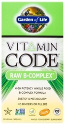 Garden of Life Vitamin Code Raw B Complex  120 Capsules
