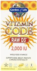 Garden of Life Vitamin Code RAW D3  2000 IU 60 Capsules