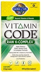 Garden of Life Vitamin Code RAW K Complex   60 Capsules