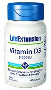 Life Extension Vitamin D3  5000 IU 60 Softgels