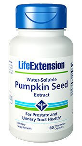 Life Extension Water Soluble Pumpkin Seed Extract  60 Capsules