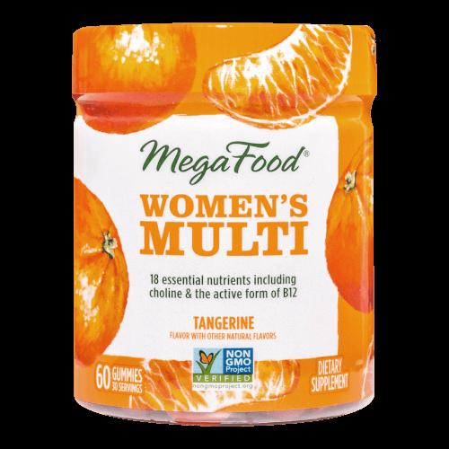 MegaFood Womens Multi Gummy Tangerine 60 Gummies