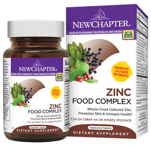 New Chapter Zinc Food Complex  60 Tablets